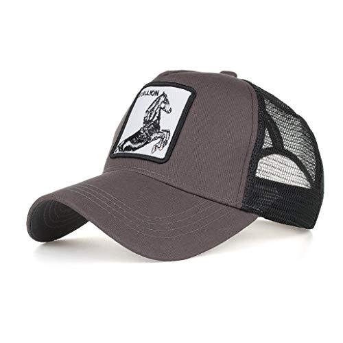 Yvelands Damen Herren Cap Hut Cotton hochwertige bestickte Unisex Baseball Caps einstellbar(L)
