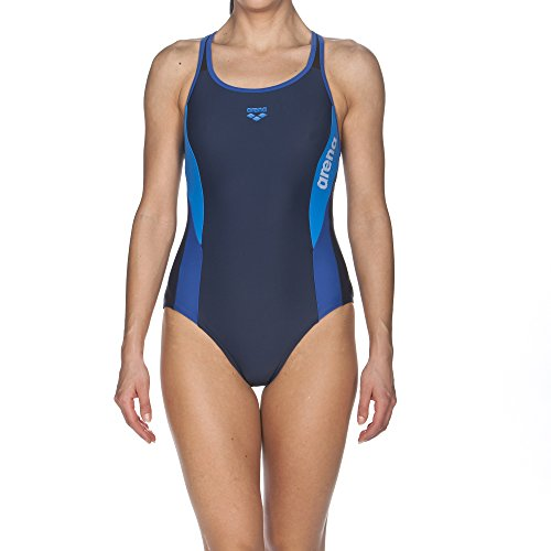 arena Damen Sport Hypnos Badeanzug Navy-Royal-Pix Blue