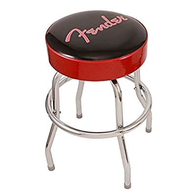 "Fender 24"" Bar Stool Red With Fender Logo Guitar Stool - low-cost UK light store."