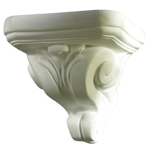 Wandkonsole Barock klein, 11 cm weißer Alabastergips