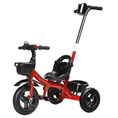 Kids Trike Kleinkinder Kinder Dreirad Kinderwagen Trike, Höhenverstellbar mit Pedal, Handlauf Kann Balance Bike mit Ablagefach und Klapppedalen entfernt Werden, for Jungen Mädchen 2-5 Jahre Upgrade