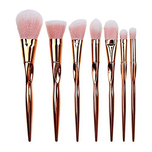 Beauty Pinceaux Maquillages Professionnels Kit De 8Pcs, Poils SynthéTiques Vegan, Soyeux Et Denses, Produits Toute Consistance (Poudres, CrèMes, Liquides) Hiroo (B)
