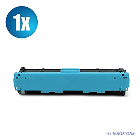 1x Eurotone Remanufactured Toner Cartouche pour HP Color LaserJet CP 1210 1213 1214 1215 1216 1217 1513 1514 1515 1516 1517 1518 1519 NI N remplace CB541A 125A