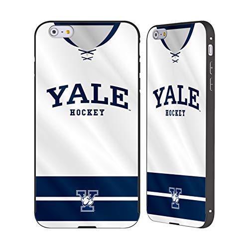 Head Case Designs Offizielle Yale University Hockey 2017/18 Jerseys Schwarz Rahmen Hülle mit Bumper aus Aluminium für iPhone 6 Plus/iPhone 6s Plus -