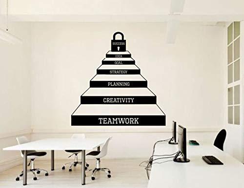 Clave para el éxito Escaleras Calcomanías de arte Cool Office Motivación Etiqueta...
