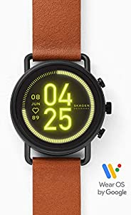 Skagen Falster Men's Multicolor Dial Leather Digital Smartwatch - SKT