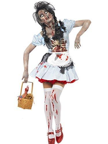 Für Toto Erwachsene Kostüm - Damen Zombie Dorothy aus Der Zauberer von Oz, Halloween-Kostüm