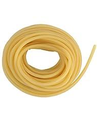 Manguera de goma, de látex natural, banda de goma elástica para hondas, tirachinas y como tubo quirúrgico (partes 1 m/3 m/5 m/10 m), amarillo, small