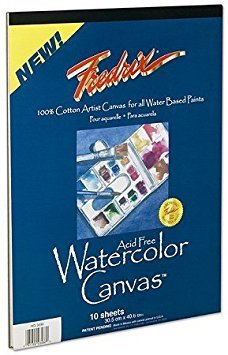 Fredrix Pad (Fredrix Watercolor Canvas Pad 16X20 by Fredrix)