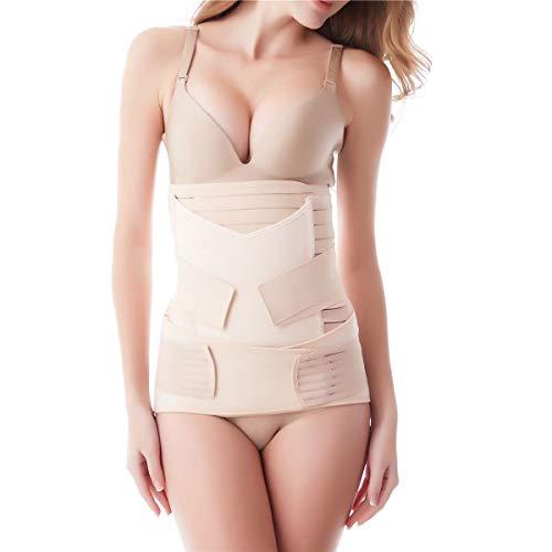 3 en 1 Faja Postparto Reductora Mujer Recuperación después del Parto , Cinturón cómoda de vientre/cintura/pelvis para Mujer y Maternidad (talla única)
