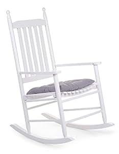 Chaise à bascule adulte en bois coloris blanc