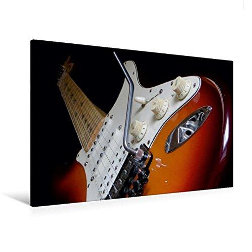 Richie Sambora-gitarre (Premium Textil-Leinwand 120 cm x 80 cm quer, KULT GITARRE - Richie Sambora Stratocaster   Wandbild, Bild auf Keilrahmen, Fertigbild auf echter ... mit Tremolo und Guitar Jack (CALVENDO Kunst))