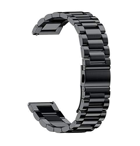 0e6b4d017bcf Sayla Calidad Alta Recambios Correa Relojes Caucho Fashion Universal Loop  Acero Inoxidable Eslabones Correa De Cierre Plegable (18mm)