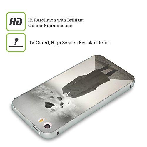 Ufficiale Lacabezaenlasnubes Tuffo Nel Cielo Surreale Argento Cover Contorno con Bumper in Alluminio per Apple iPhone 5 / 5s / SE Pianeti