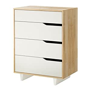 ikea mandal kommode mit 4 schubladen birke wei 79x103 cm k che haushalt. Black Bedroom Furniture Sets. Home Design Ideas