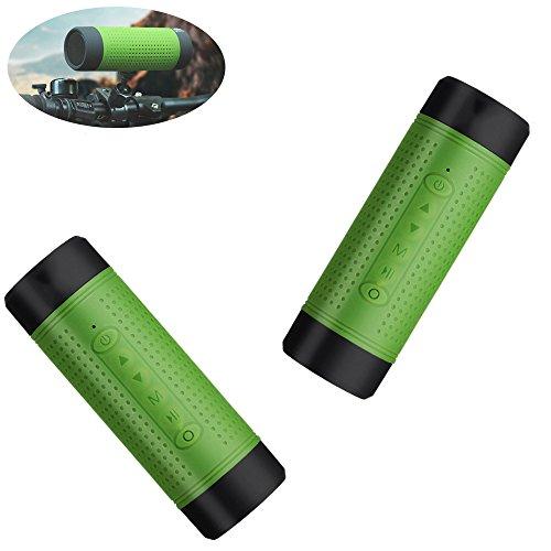 Zsjijia Bluetooth Lautsprecher Wasserdichter Sport, Bluetooth Audio Taschenlampe Portable Wireless Lautsprecher, Radfahren Lautsprecher 4.0 NFC, eingebaute Mic HIFI Bluetooth Lautsprecher