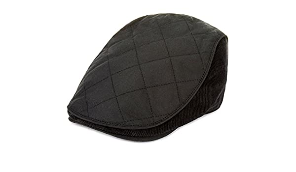 d781994fefc Temple Moyle Mills Mens Black Pure Cotton Waxed Thinsulate Flat Cap - Size  M  Amazon.co.uk  Clothing