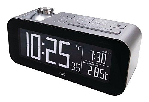 Eurosell - Design Funk Wecker Digital + Projektion Uhr Zeit an die Decke + Thermometer Temperaturanzeige