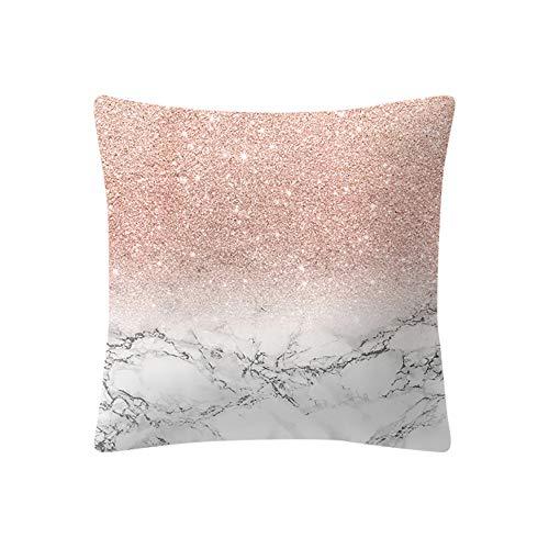 Federa cuscino cloom,cuscino rosa in oro rosa piazza federa decorazioni per la casa federe divani decorativo cotone cuscino copricuscini divano caso federa per cuscino 45x45 cm(a,1pc)