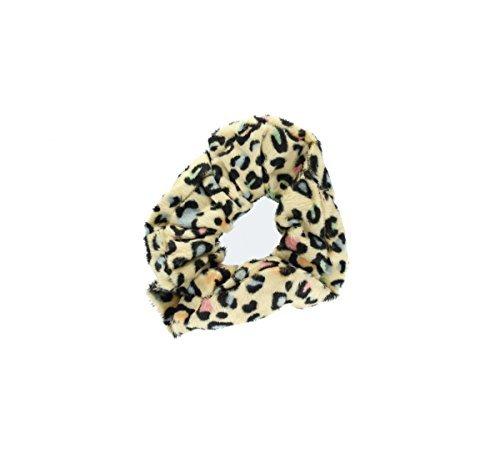 Samt Animal Print Leopard Camel Haargummi -