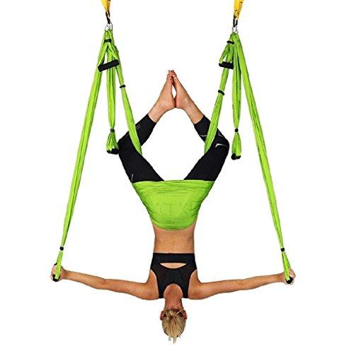 WKLCF Yoga Hängematte Aerial Anti-Gravity-Schwingen Hängetuch Joga Rutschfeste Hammock Air Fliegen Belastung 300kg Yoga Set