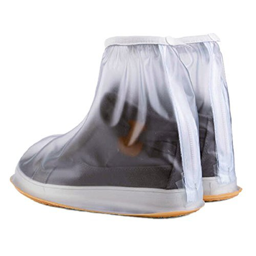 Boseen 1 Pair of Men Anti-slip Reusable Rain Shoe Covers Waterproof Shoes Overshoes Boot Gear (XL) by Boseen
