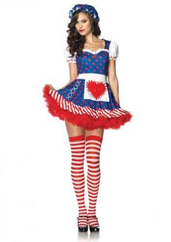 Leg Avenue Darling Dollie Kostüm XS, 1 Stück (Promi-halloween-kostüme Für Erwachsene)