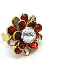 Multi Color Flower Shape Pacchi Work Adjustable Ring For Girls &Women Multi Color Flower Shape Pacchi Work Adjustable... - B071ZFFYXW