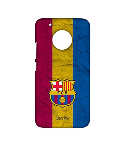 Macmerise Licensed FC Barcelona FCB Premium Printed Back cover Case for Moto G5 Plus