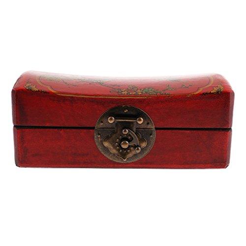 Sharplace Caja Almohada de Madera Accesorios de Estilo Retro Chino Antiguo
