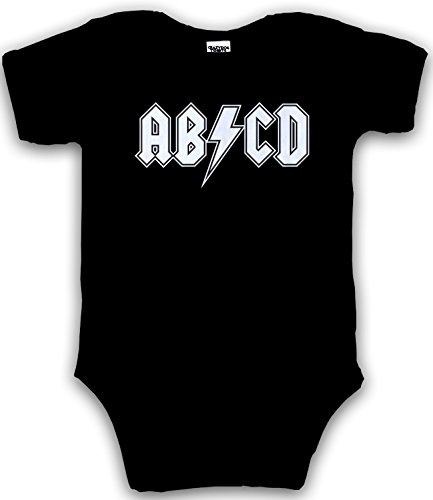 Baby ABCD Creeper Funny Metal Band Rock Logo Romper for Infants and Toddlers (black) 12-18 Months - baby-jungen - 12-18 Months (Wie Man Einen Creeper)