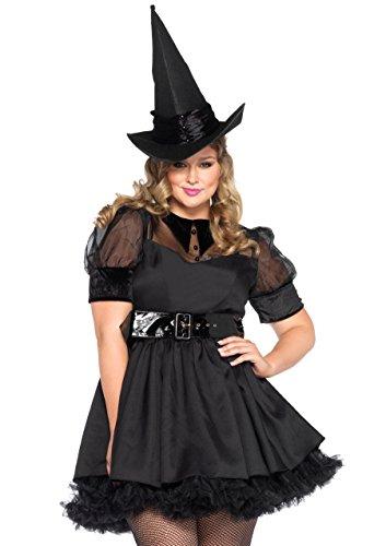 Hexe Bezaubernd Kostüme Erwachsene Damen (Leg Avenue 85238X - Bewitching Witch Damen kostüm , Größe 3X-4X (EUR)