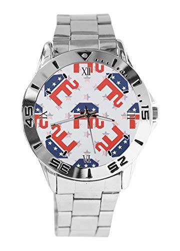 Reloj de Pulsera analógico con diseño de Elefantes republicanos Rotos y Esfera...