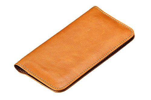 Cerbery® | Smartphone Geldbörse aus Leder | Apple iPhone 8 7 X | Case Cover Damen Echtleder Geldbeutel Herren Hülle Kartenetui Kartenhalter Kreditkartenhalter Lederhülle Tasche (Beige) Beige