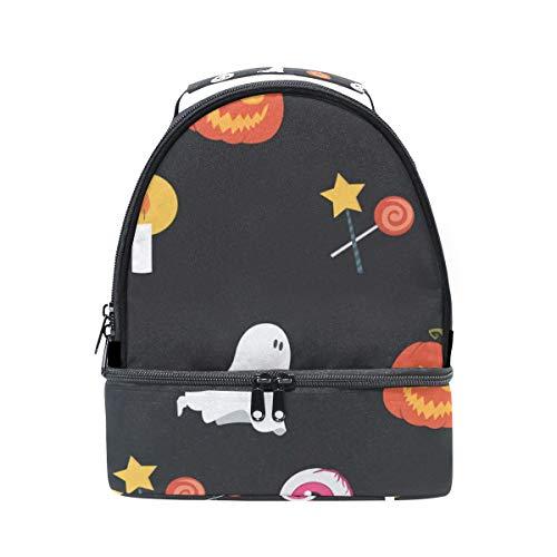 FAJRO Lunch-Tasche für Halloween, Kürbis und Kobold, Lunch-Tasche