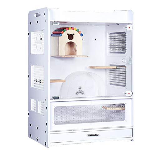 ZZQ Hamsterkäfige Wunderschöner Hamstermauskäfig, Stockwerk, Fantasie, Hamsterkäfig, Schloss, Tragbares Reisehaustier, Hamsterkäfig-Set, Ideal für Mäuse und Rennmäuse