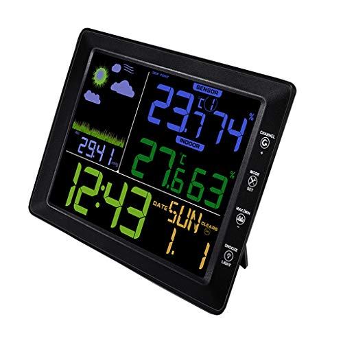 Preisvergleich Produktbild Topker Funkwetterstation Sound Control-Modus HD-Bildschirm Temperatur-Feuchtigkeits-Indoor Outdoor Wetter Clock