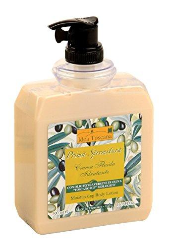 Idea Toscana - Feuchtigkeitsspendende Bodylotion, Moisturizing Body Lotion 500ml Pumpspender - Prima Spremitura Naturkosmetik aus dem Herzen der Toskana