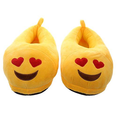 Ciabatte Pantofole Emoticon emoji occhi a cuore