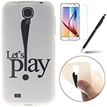 Samsung Galaxy S3/S3 Neo Silicone Coque - Felfy Ultra Mince Flexible Souple Soft Gel Case Cover Coque Housse Coloré Cute Motifs Retro Protection TPU Transparent frontière Case Cover pour Samsung Galaxy S3/S3 Neo (Play Cas) + 1 x Noir Stylus + 1 x Screen Protector