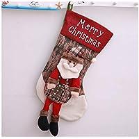 Hermosa decoración navideña Bolso Creativo del Regalo de la Bolsa del Caramelo de la Media de