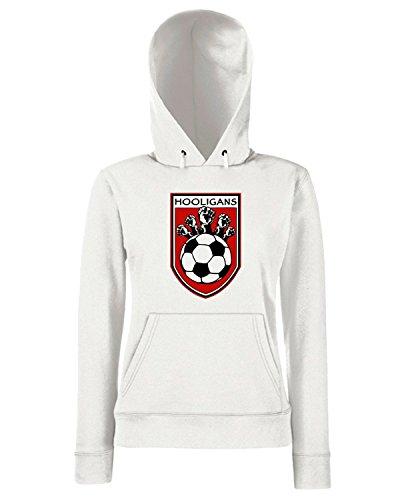 T-Shirtshock - Sweats a capuche Femme TUM0101 XIX Hooligans Blanc