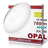 LED Wandleuchte Deckenleuchte OPAL Wandlampe Deckenlampe 12 Watt Neutralweiß