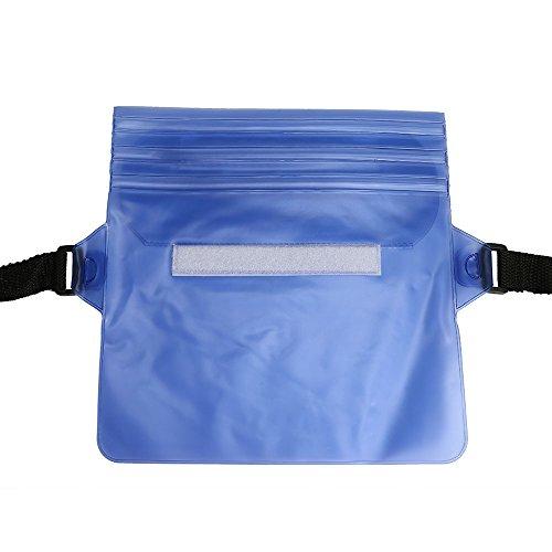 LIUYUNE,Wasserdichte PVC-Bund-verstellbare Tasche für das treibende Schwimmen(color:BLAU)