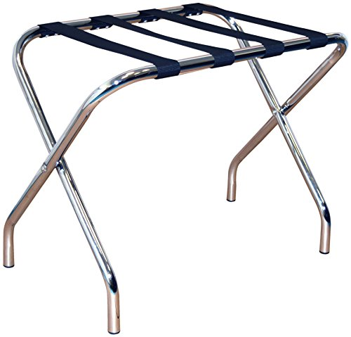 Porte-bagages pliant en métal - chrome/acier...