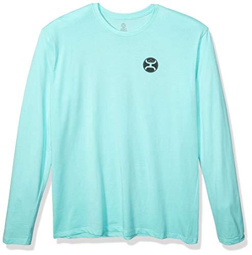 HOOey Herren Western-Shirt mit Logo-Aufdruck, Herren, Western Athletic Shield, Seladongrün, X-Large -