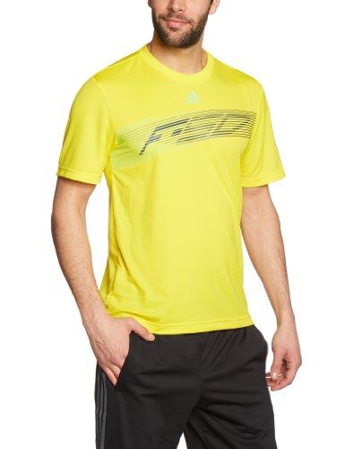 Adidas F50 Tee - T-shirt da uomo Giallo - giallo s13/verde vivido scorza s13/tech onix f12