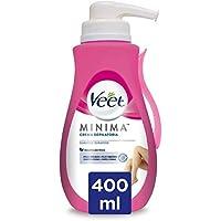Veet Crema Depilatoria Corporal para Mujer, Con Dosificador, Piel Sensible, 400 ml