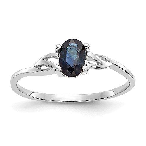 Jewels By Lux  -  14 Kt  Weißgold Spezialschliff   blau Saphir