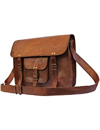 Handmade Leather Messenger Bags For Men And Women Shoulder Satchel Briefcase - B06WVSWC1C